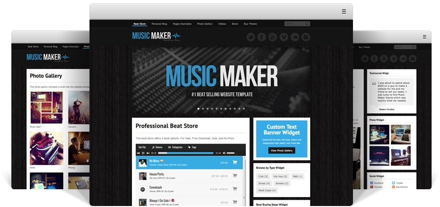 Music Maker WordPress Theme ( Standard License )