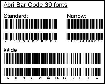 Abri Bar Code 39 TTF Windows fonts