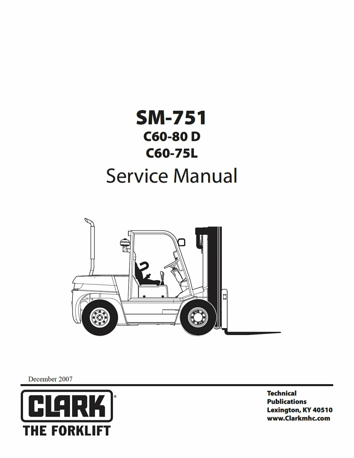 Pdf Download Clark C60-80D C60-75L Forklift Factory Service Manual