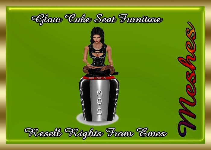 Glow Cube Seat Furniture Catty Only!!! Custom Sitting Pose