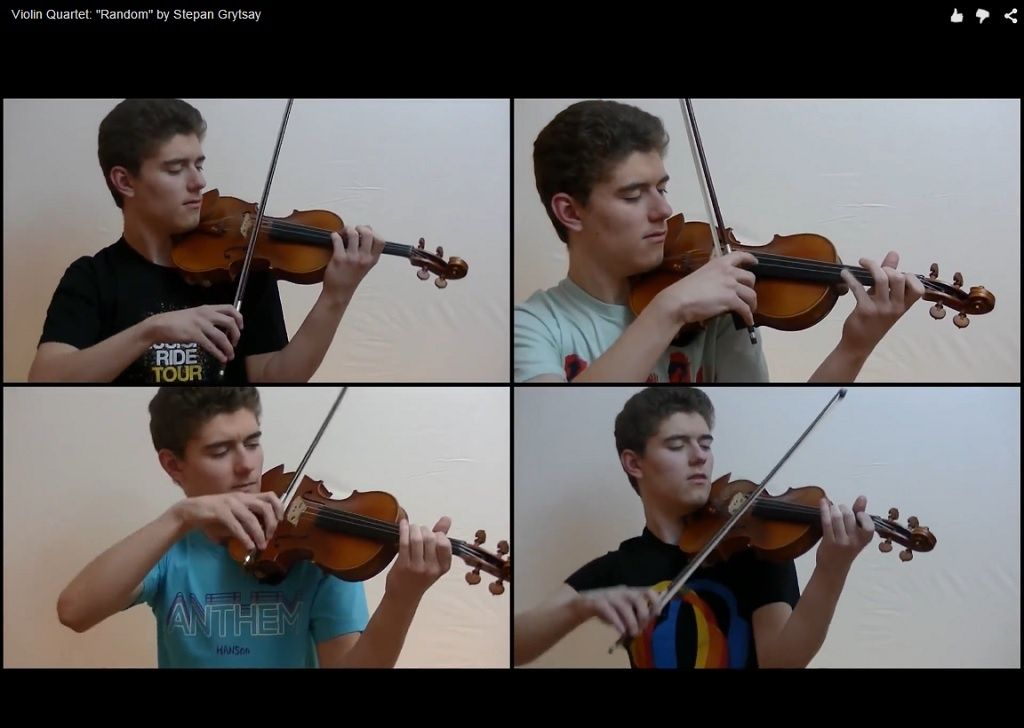 "Violin Quartet: ""Randomizer"" by Stepan Grytsay"