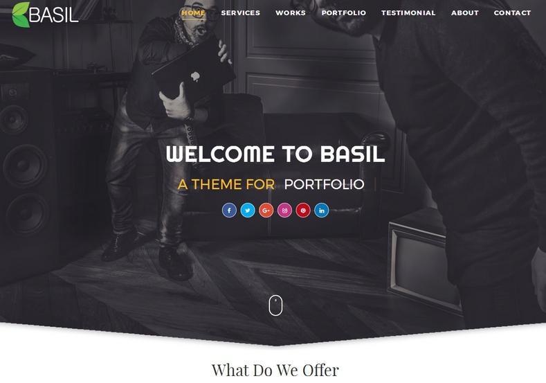 Basil Portfolio Blogger Template Premium Version