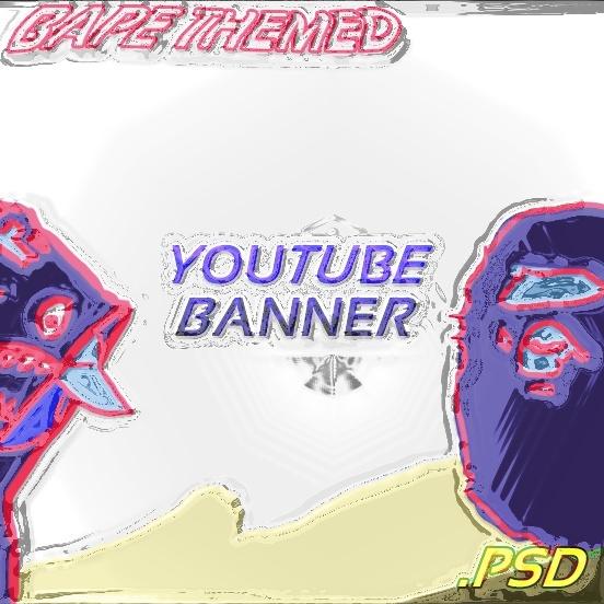 Bape Themed Youtube Banner PSD