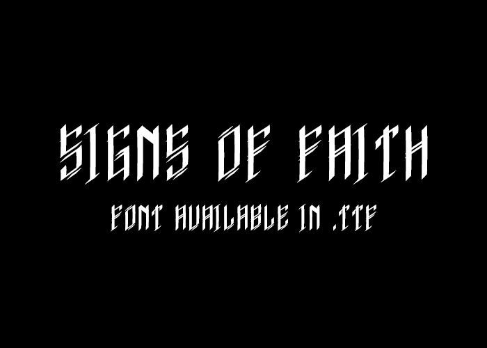 Signs of Faith - font.