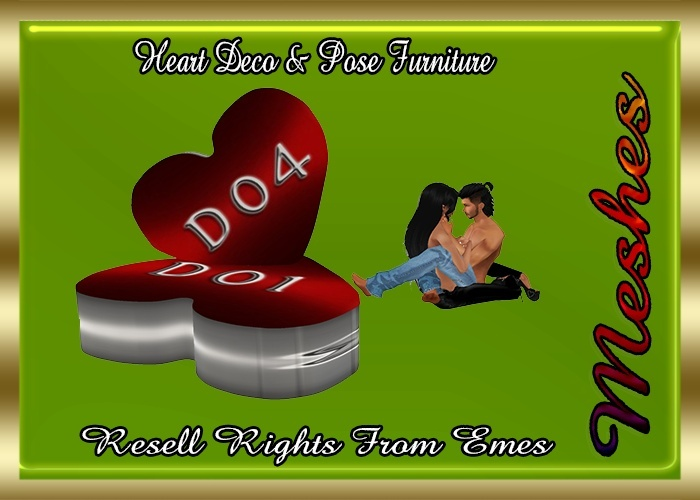 Heart Decor & Pose Furniture Catty Only!!!
