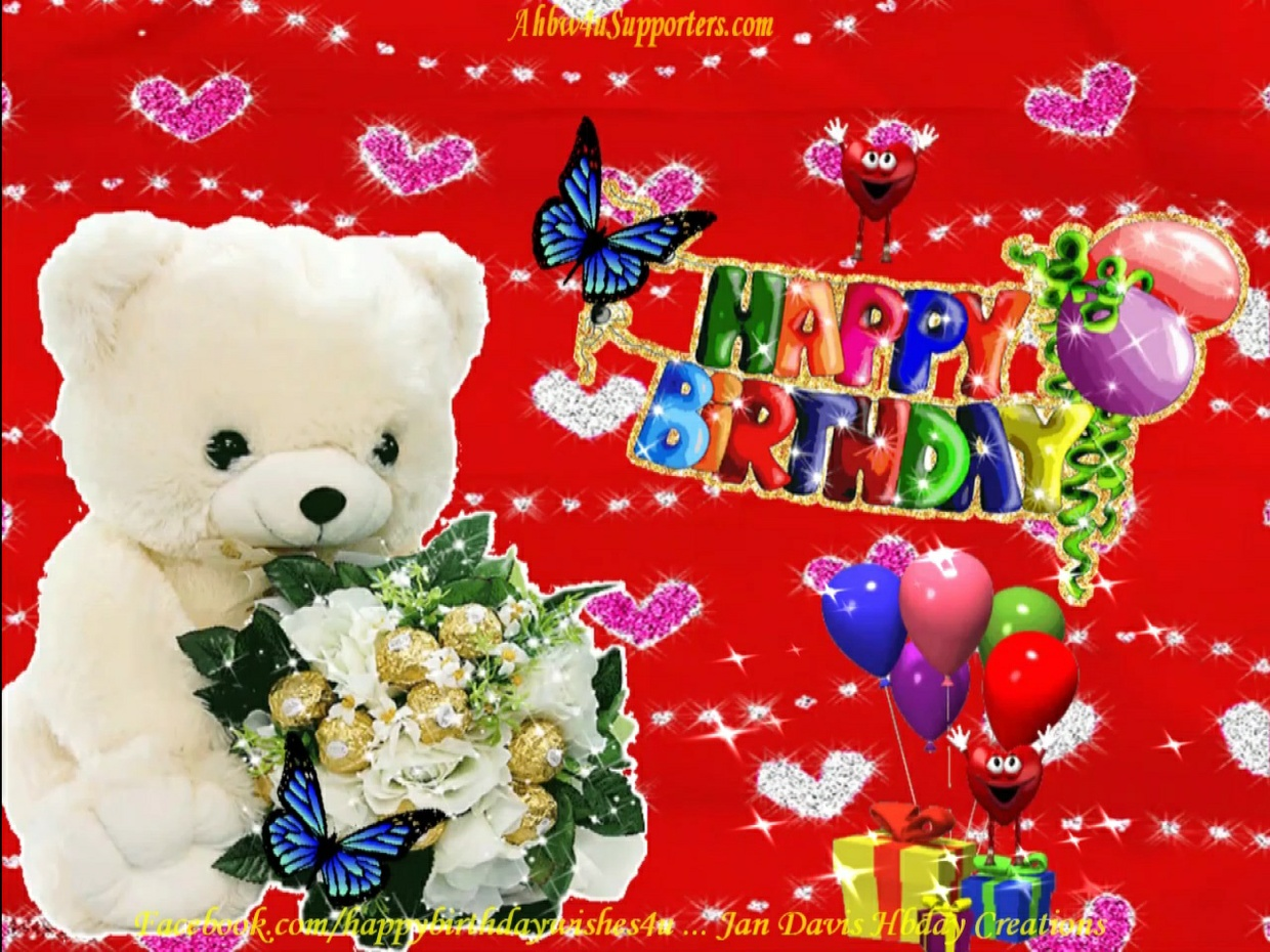 Cute Teddy Bear Hbday Wishes