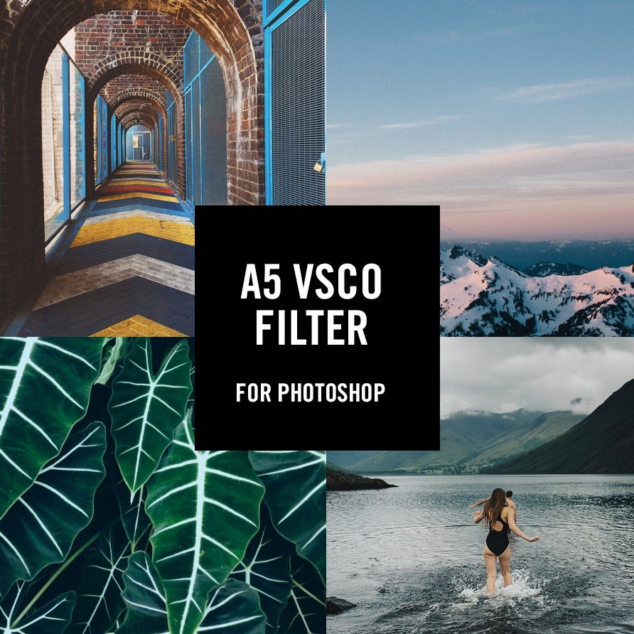 A5 VSCO FILTER for Photoshop