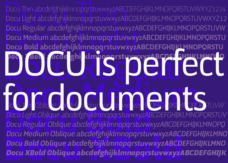 DOCU font