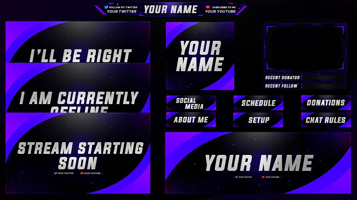 Purple Curved Full Twitch Revamp