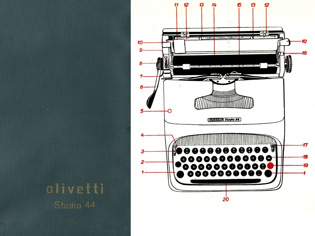 Olivetti Studio 44 Typewriter Service Repair Adjustment Manual