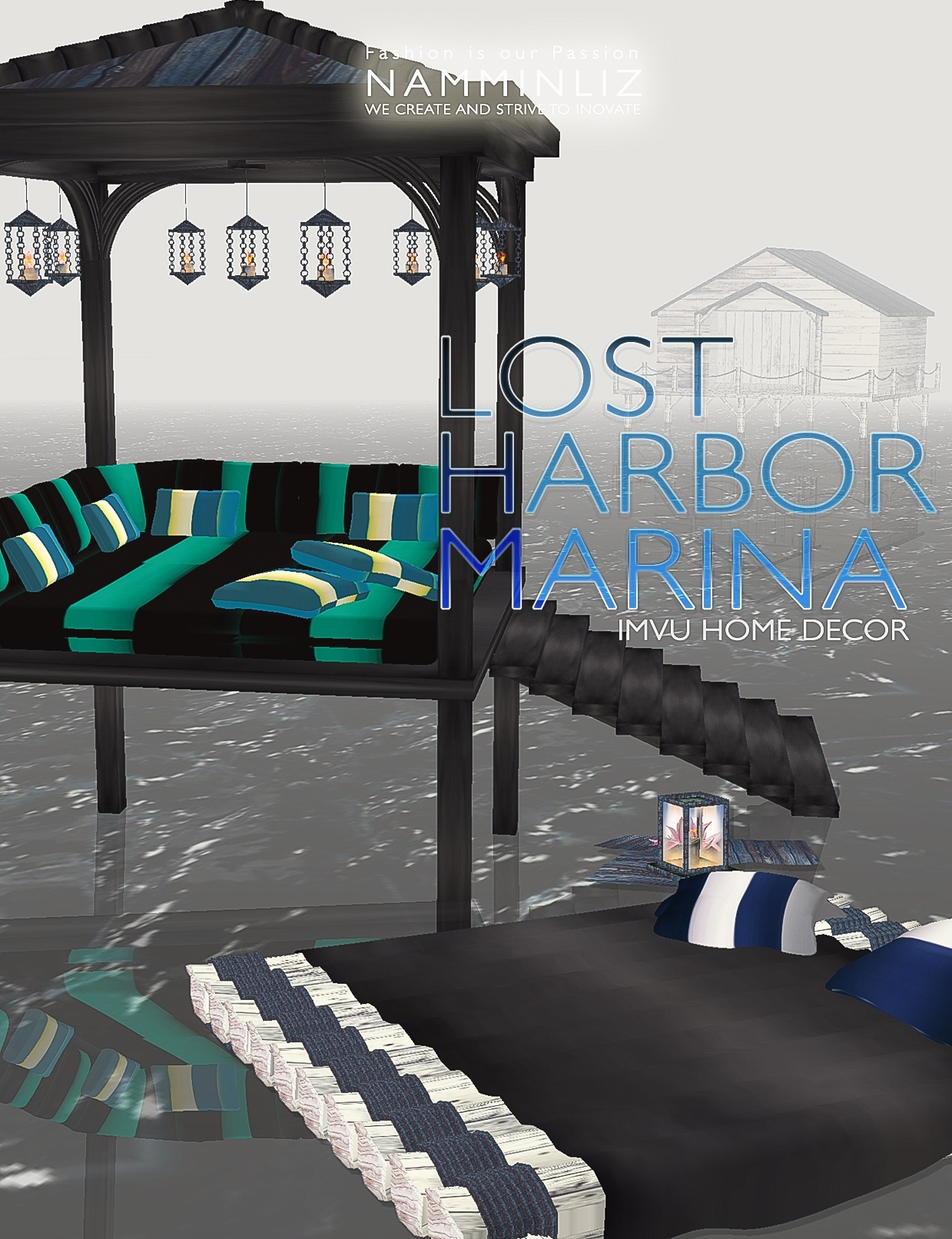 LOST HARBOR MARINA imvu home decor •23 Textures PNG •12 *.CHKN