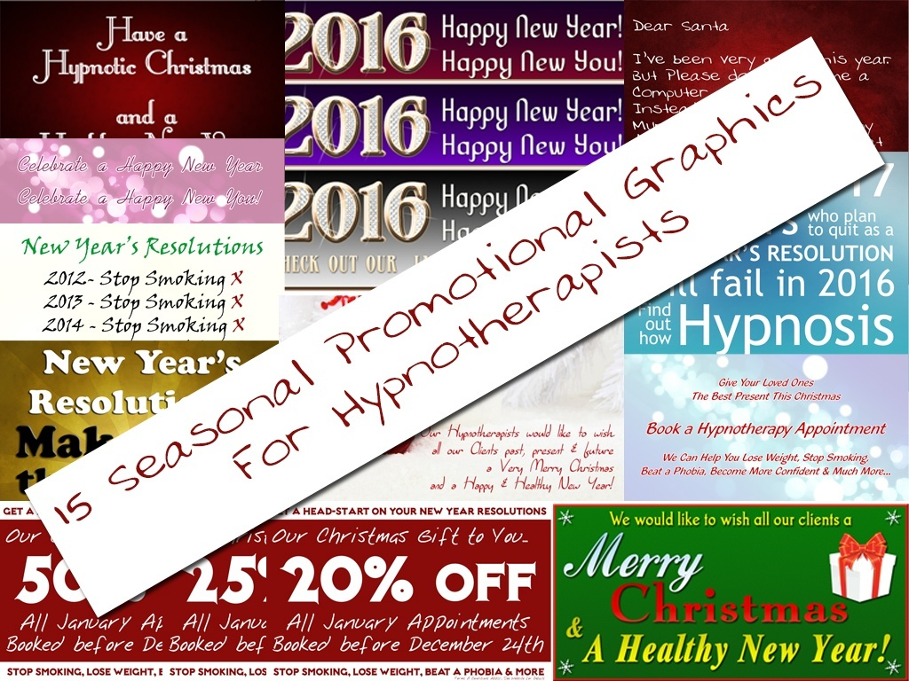 15 Seasonal Promotional Graphics for Hypnotherapists