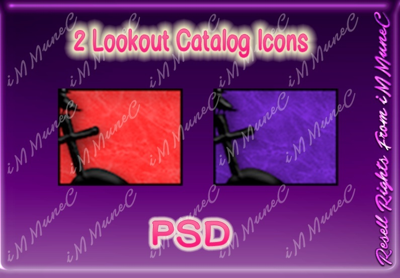 2 Lookout Catalog Icons PSD (Halloween)