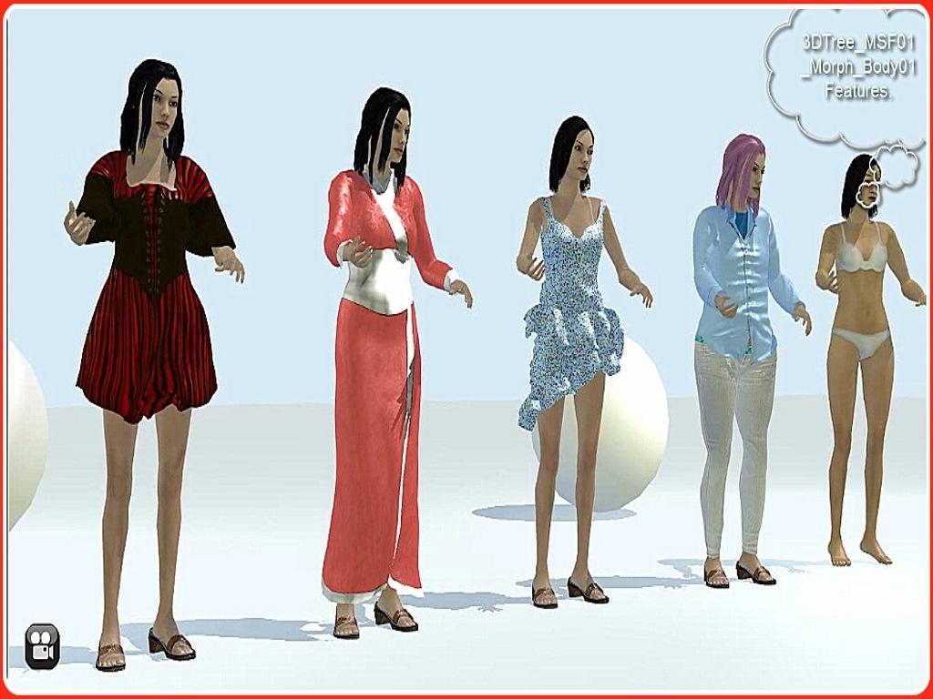 3DTree Female01 Morph-able  MovieStorm costumes Volume 1