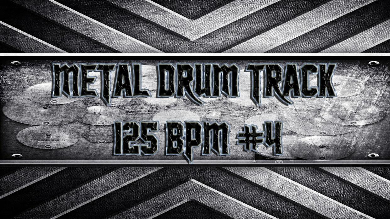 Metal Drum Track 125 BPM #4 - Commercial