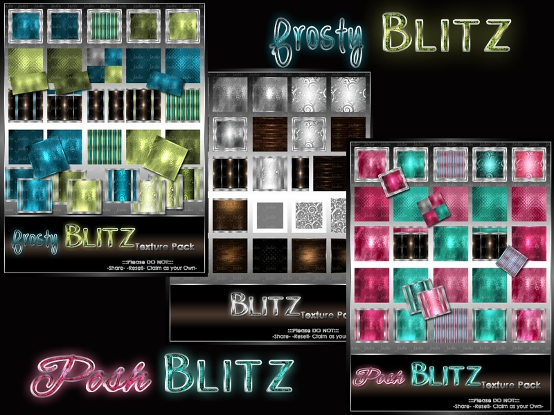 frosty & posh Blitz Texture Pack Collection $15.00