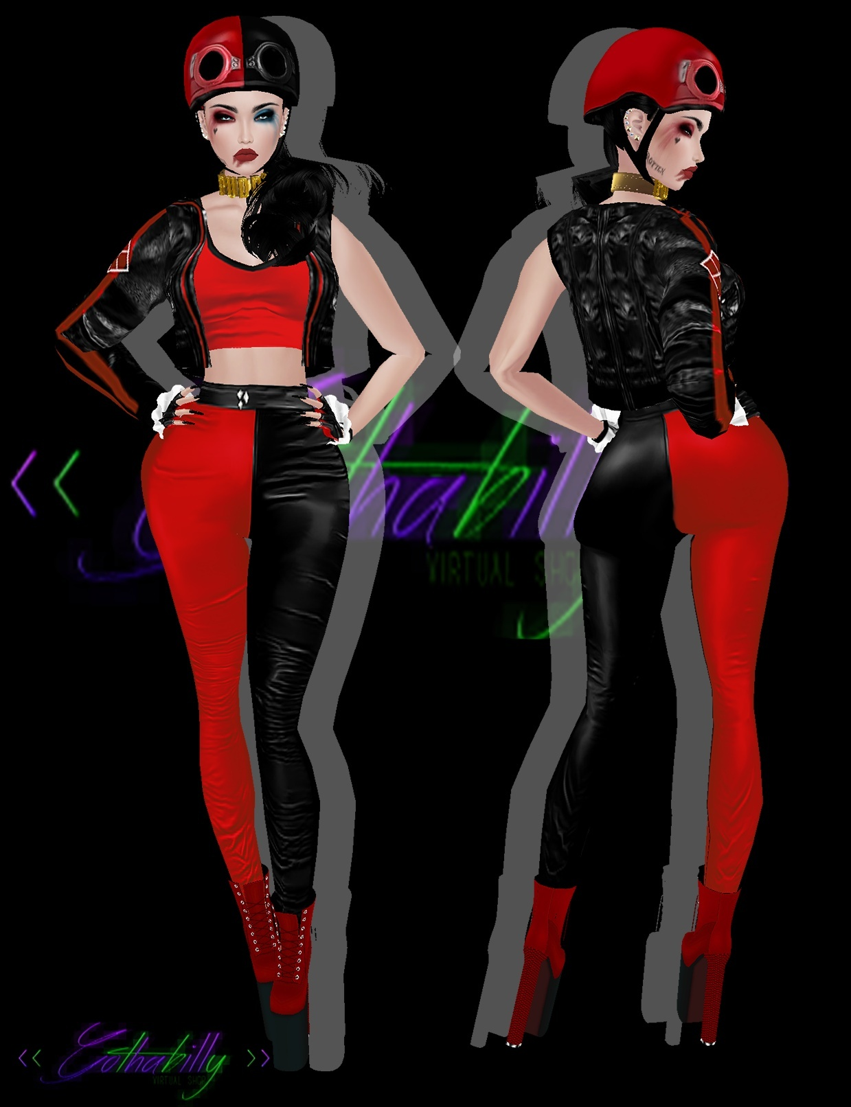 Biker HarleyQuinn Package -