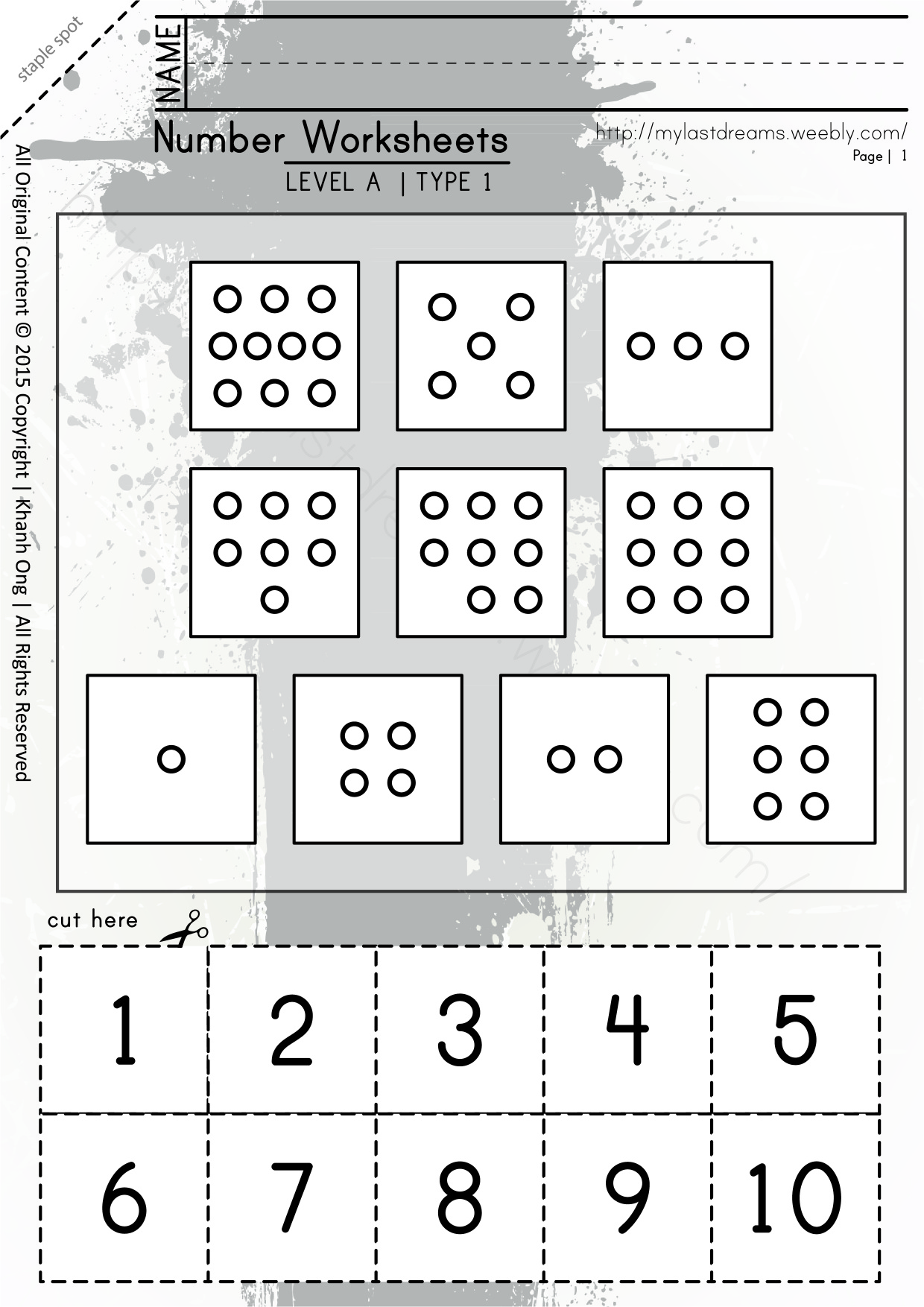 MLD - Basic Numbers Worksheets - Part 1 - A4 Sized