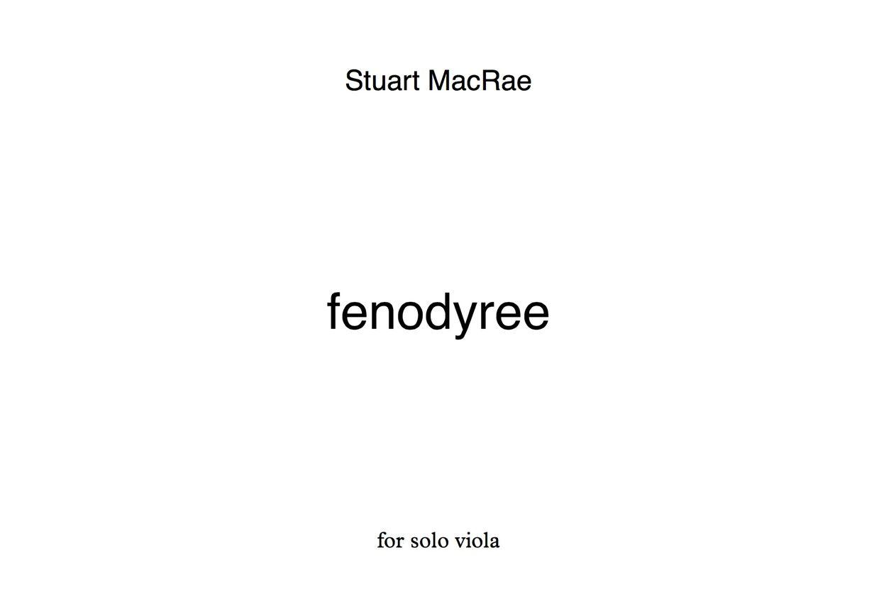 fenodyree for solo viola by Stuart MacRae - full score download