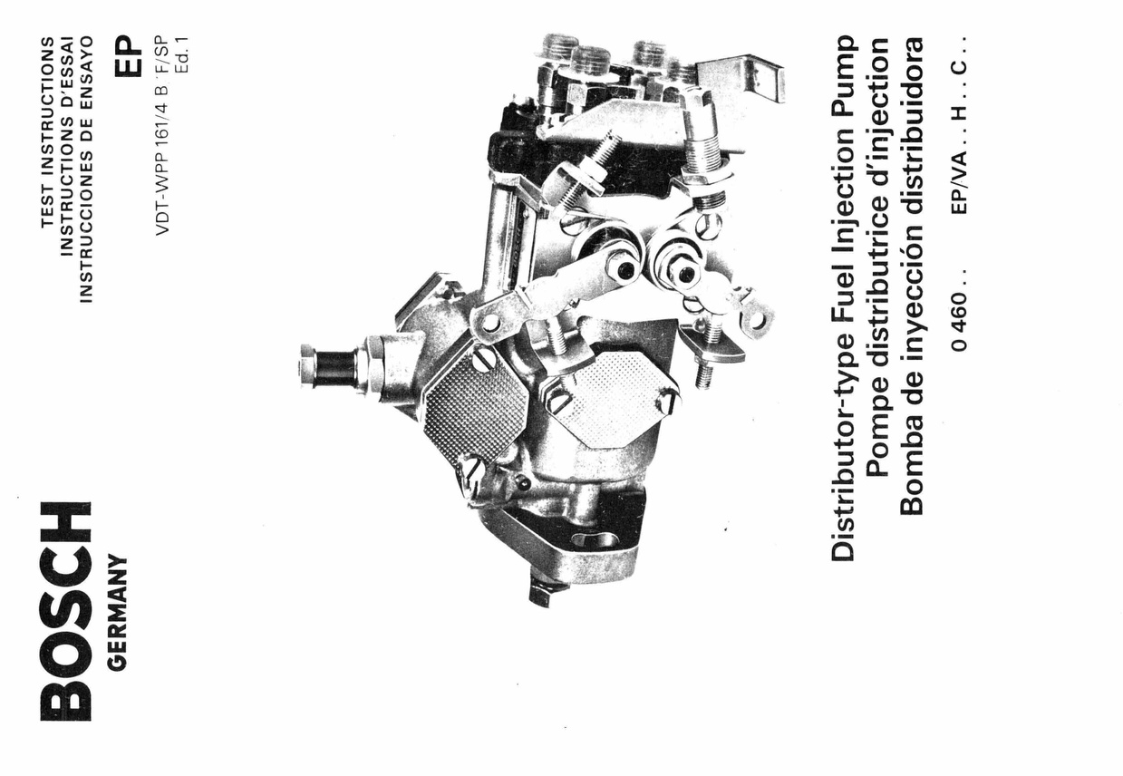 Bosch fuel Pump Manual