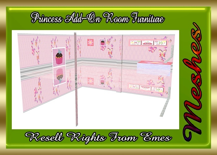 Princess Add-On Room Furniture Catty Only!!!