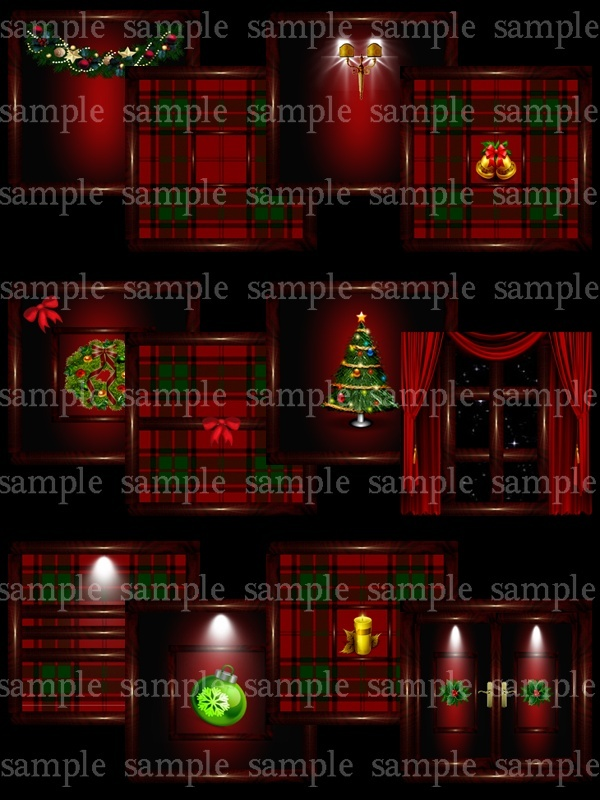 Wooden red christmas pack