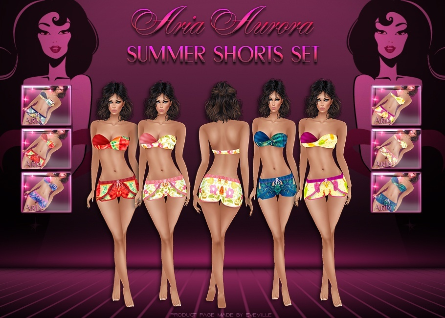 Summer Shorts Set 6 Colores SIS3D Mesh 3 Sizes,NO Resell on this File!!