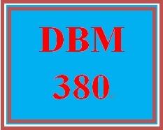 DBM 380 Week 1 Individual: Database Environment Proposal