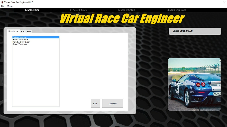 Virtual Race Car Engineer 2017