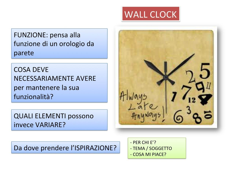 Progetta un orologio da parete: fogli di lavoro