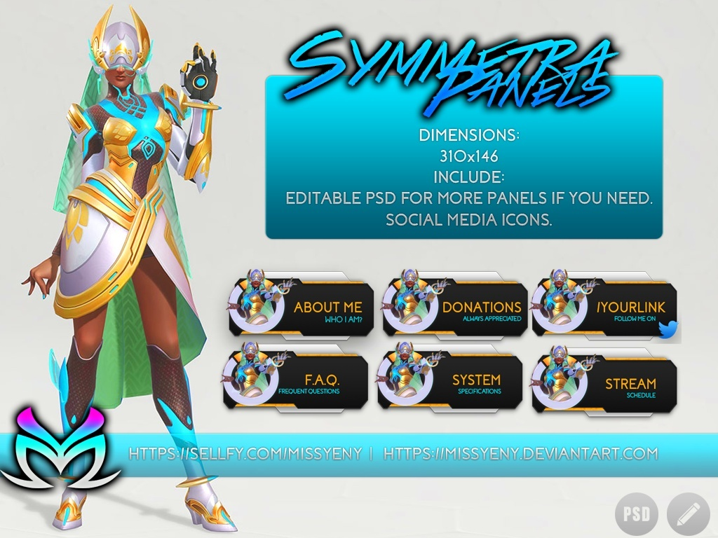 Twitch Panels Symmetra Overwatch Inspiration