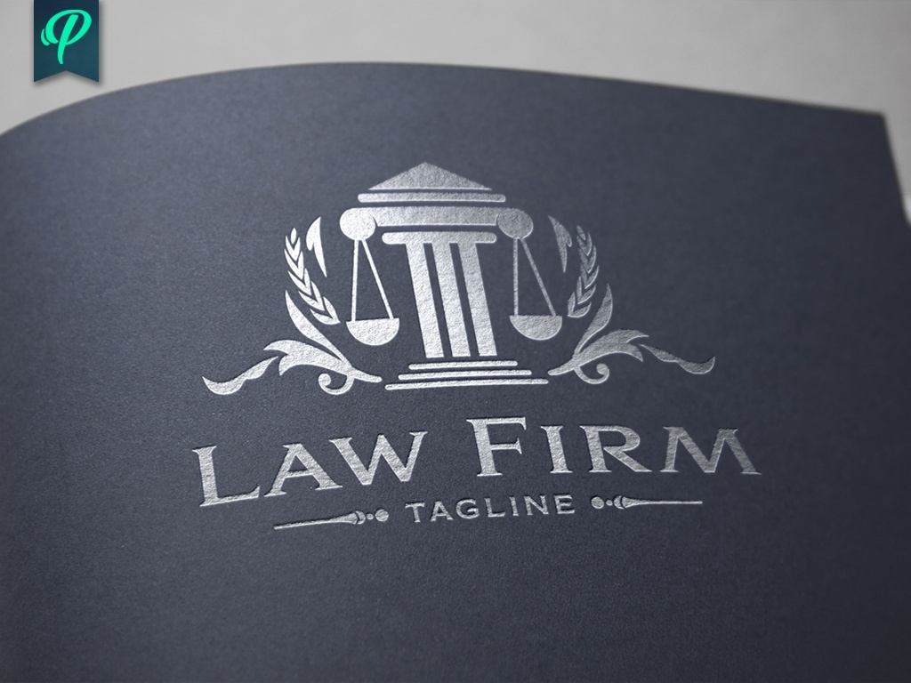 Law Firm - Scale of Justice Vector Logo | PenPal - Sellfy.com