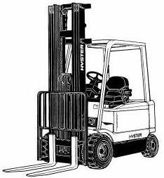 Hyster Electric Forklift Truck A416 Series: J2.00XM, J2.50XM, J3.00XM, J3.20XM Spare Parts List, EPC