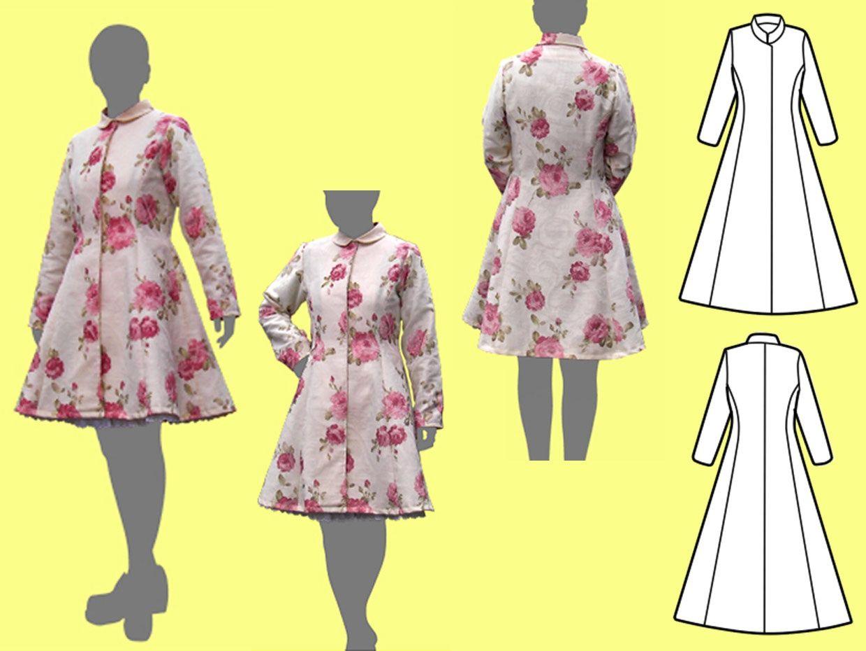 Princess line coat (Paper pattern)