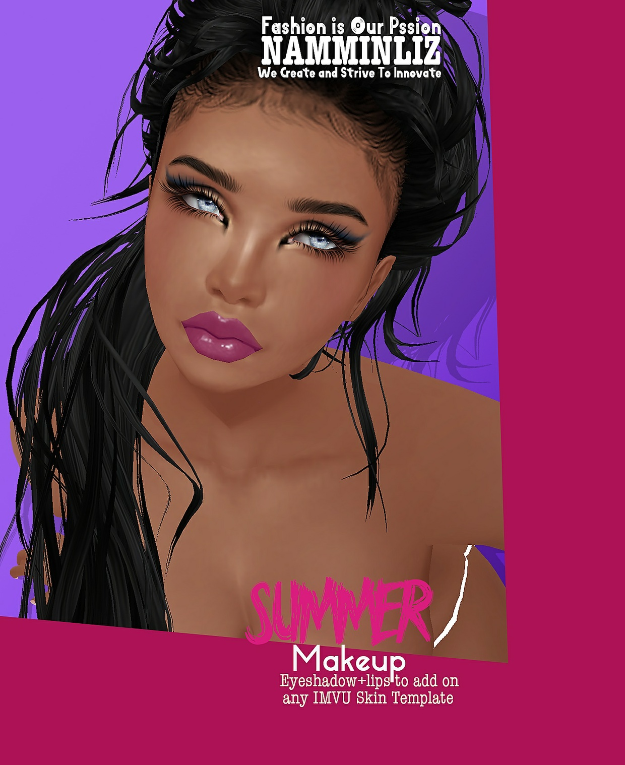 Summer Make up 10 Lips colours PNG +3 EyeShadowsPNG +1 Skintone PNG