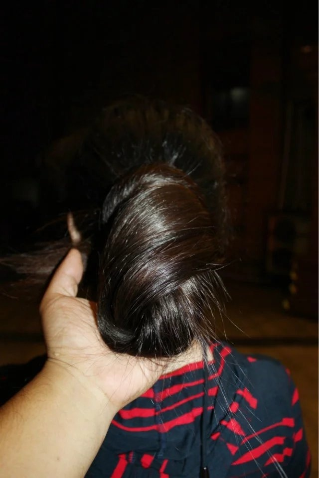 Longhair cut at night