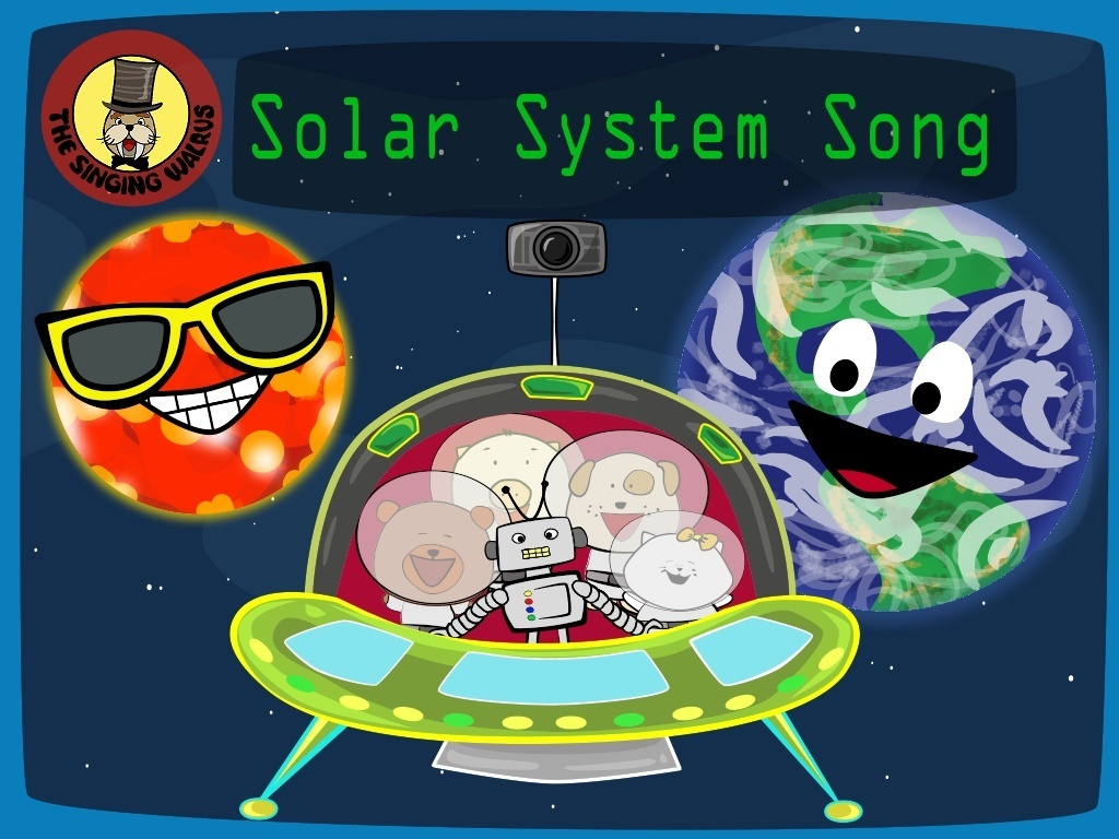 Solar System Song video (mp4) | The Singing Walrus ...