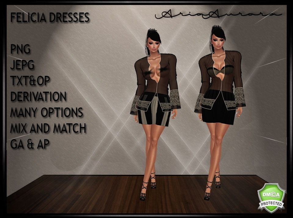 FELICIA DRESSES GA&AP MIX AS YOU LIKE IT,NO RESELL!!