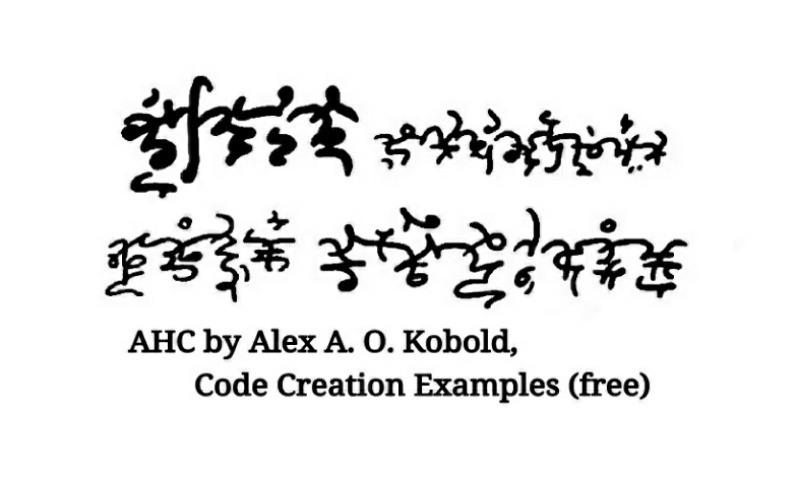 Advanced Handwriting Cryptography -- Code Creation Examples