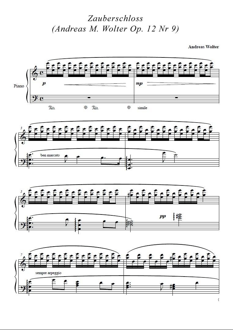 Zauberschloss  (Andreas M. Wolter Op. 12 Nr 9)