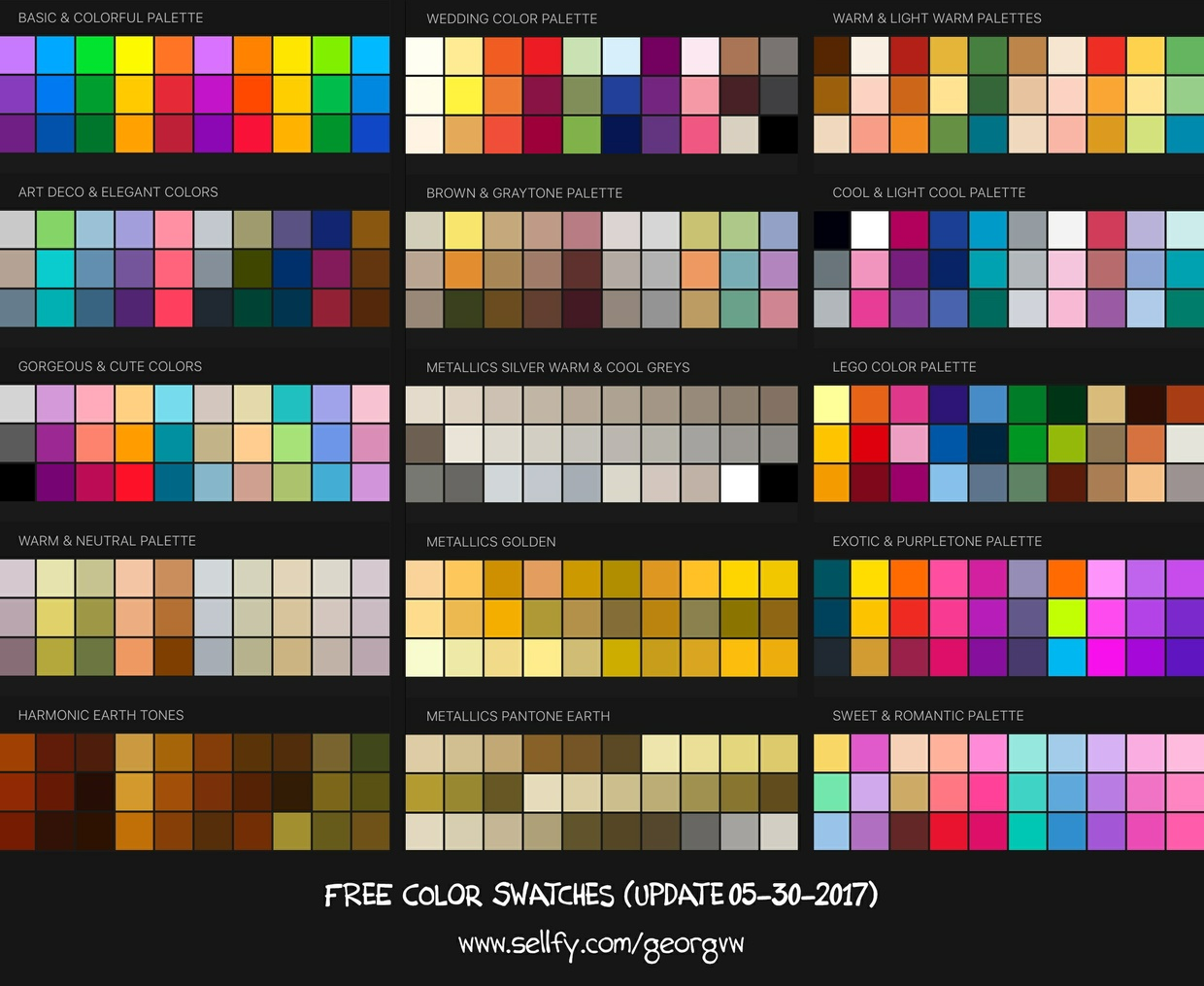 85+ COLOR SWATCHES & HARMONIC PALETTES for Procreate