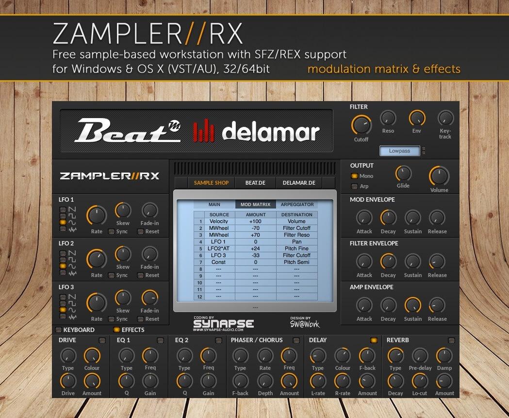DX7 BLAZE – Yamaha DX7 sound bank for Zampler//RX workstation (Win/OSX plugin included)
