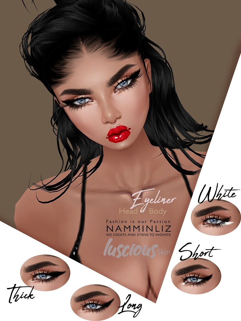 4 Luscious Eyeliner imvu Texture PNG  to Apply on any IMVU Skin Template
