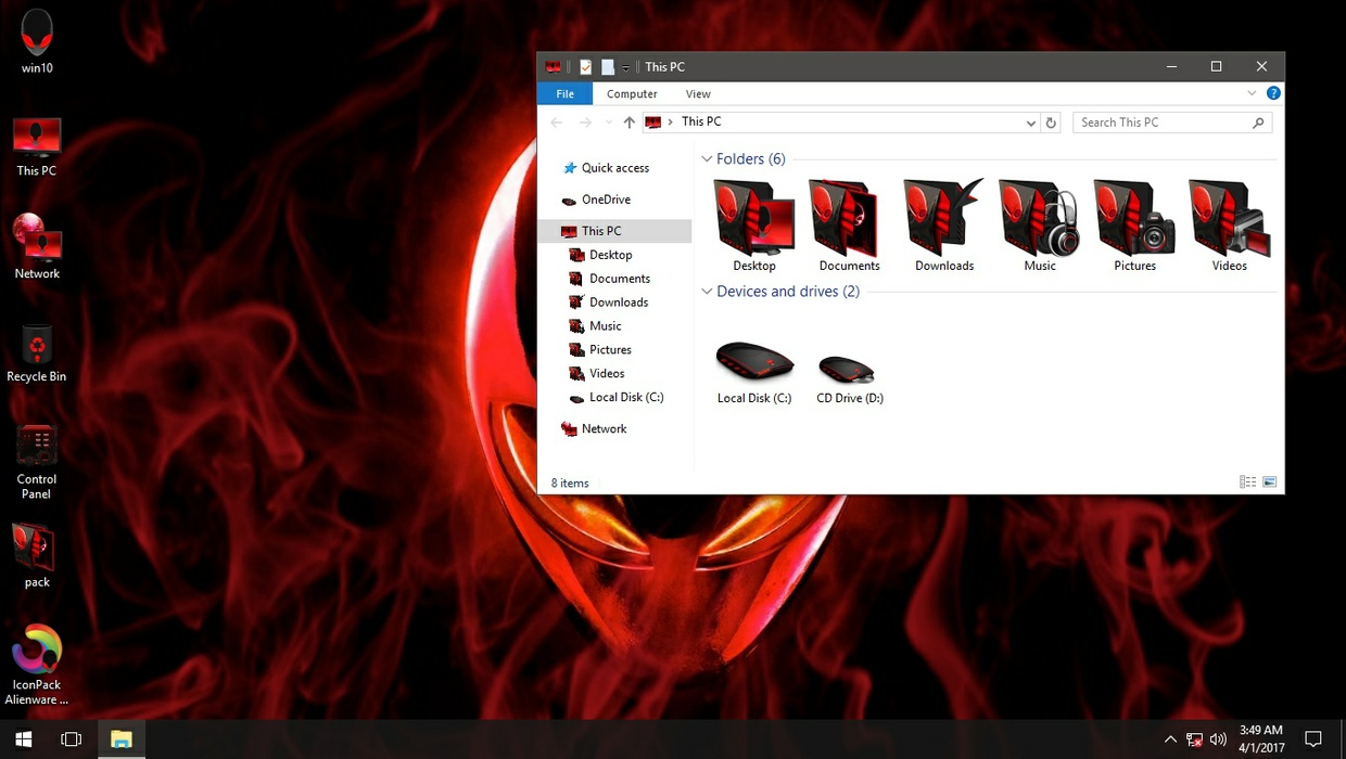 Alienware 3D Red IconPack