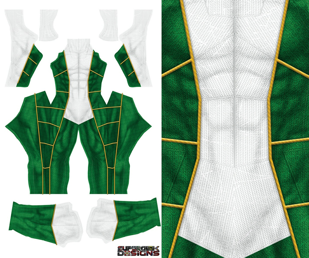 GREEN/WHITE HYBRID RANGER pattern file