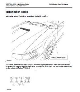 2003 Ford Mustang Workshop Manual