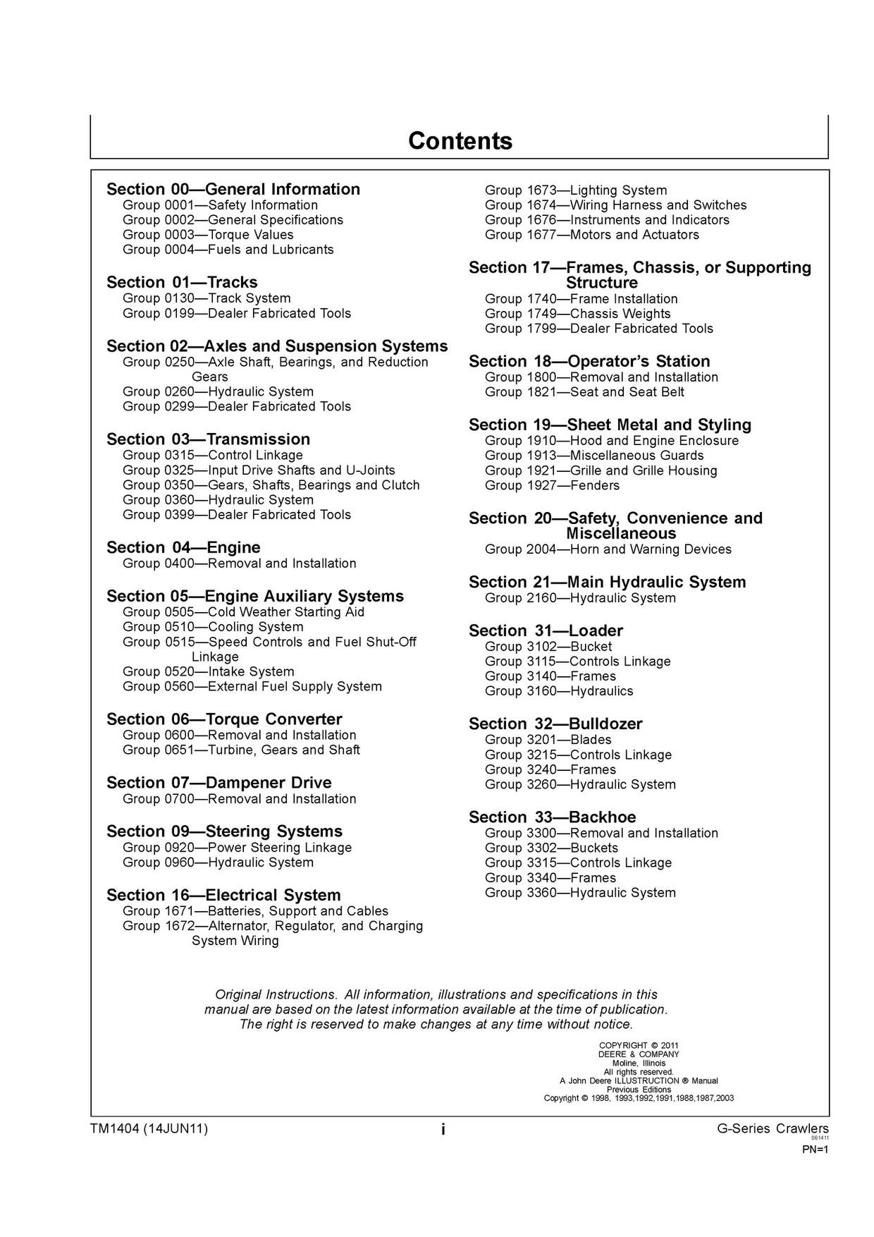 PDF JOHN DEERE 450G 455G 550G 555G 650G CRAWLER DOZER REPAIR TECHNICAL MANUAL TM1404