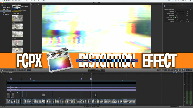 Final cut Pro X Distortion Effect!!