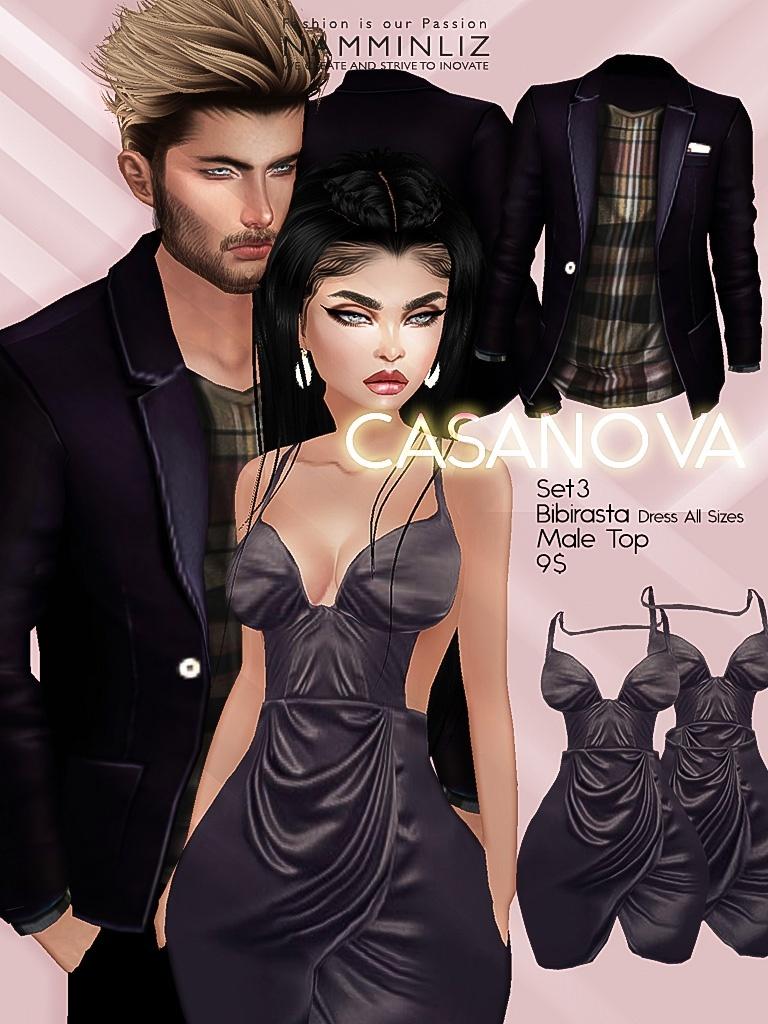 CASANOVA set3 ( Bibirasta Dress + Male Top ) JPGTexture imvu
