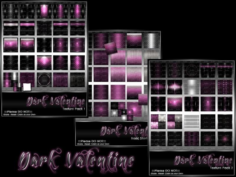 Dark Valentine Collection-- $15.00